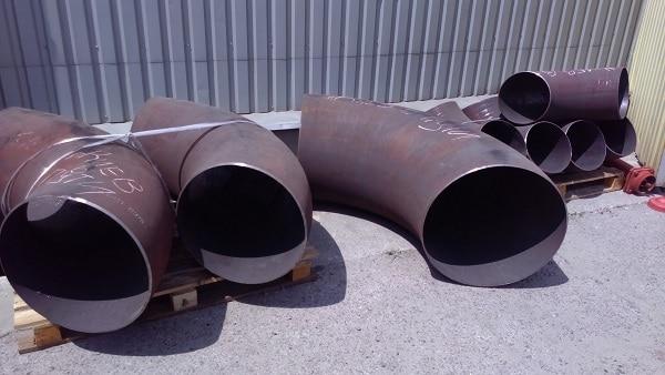 Отводы стальные нержавеющие крутоизогнутые ф530, 630 мм ГОСТ 30753 ст.20, 09г2с, 08х18н10т Image