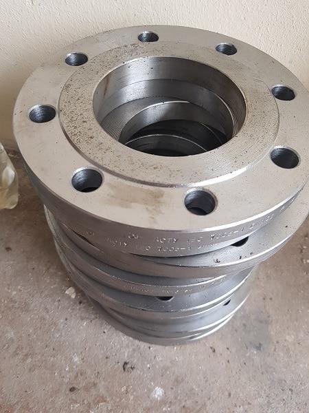 Фланцы стальные нержавеющие плоские приварные Ду15 - Ду1600 мм Ру1 - Ру25 атм ГОСТ 12820 Image